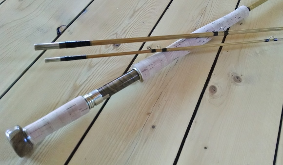 "10' 6"" 3 piece/1 tip Bamboo Switch Rod"