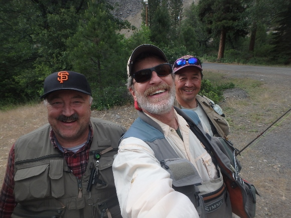 Ken, Ted, and I getting ready to hit the Pit River.