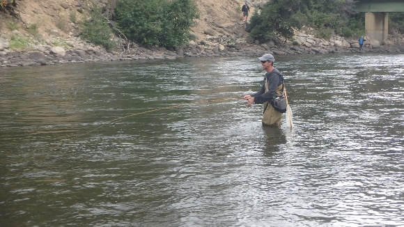 Swinging a bugger on the Salmon River.