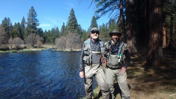 Tony and I on the Metolius River.