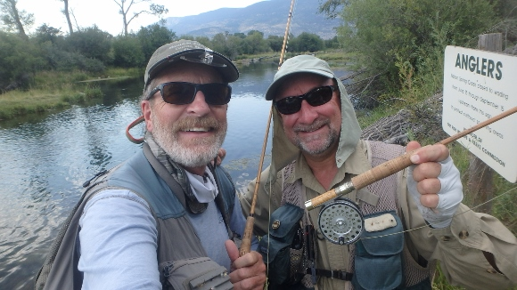 Gary and I showing off our bamboo fly rods.